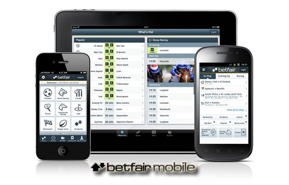 Nuevas aplicaciones de apuestas de Betfair