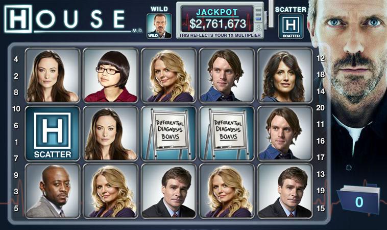 Una tragaperras de House en el Casino de Facebook DoubleDown