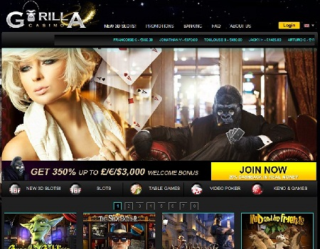 Gorilla Casino se pone en marcha con BetSoft Games